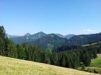 Bergköpfel Regenspitz und im Hintergrund Gennerhorn