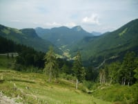 View from the Genneralm alpine pasture