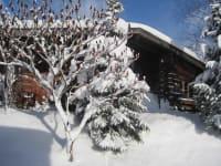 Grillhütte romantisch verschneit