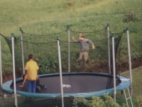 am Trampolin