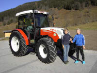 Traktor mit Jungs