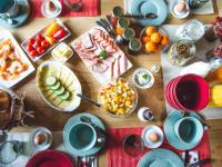 Frühstück in der Kuschelhütte