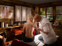 Massage im Relaxbereich