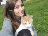 Martina mit ihrer Katze  Molly