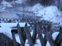Zaun im Winter