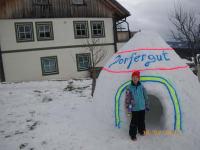 Das erste Dorfergut - Iglo mit Baumeister Florian