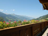 Aussicht vom Balkon Großberghof