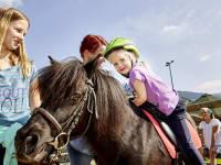 2 mal täglich Ponyreiten für alle Kinder