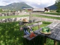 Blick zum Bauernhof