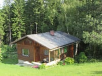 unsere Hütte am Waldrand