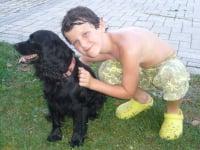 Jakob mit Blacky