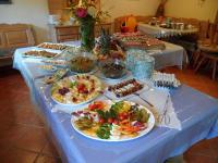 Buffet für Geburtstagsfeier