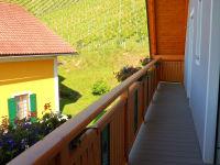 Ferienwohnung Aussicht Seitenbalkon Richtung Weingarten