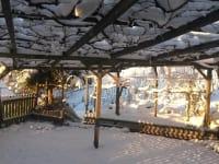 Gastgarten im Winter