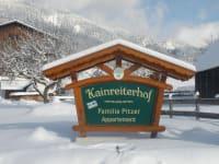 unsere Hoftafel im Winter