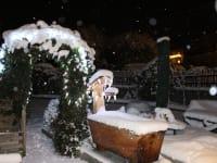 Ferienwohnung Menthof Garten Winter