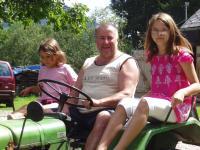 Der alte Traktor  ist alle immer wieder ein Erlebnis