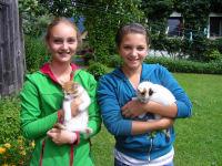 Mädels mit Katzen