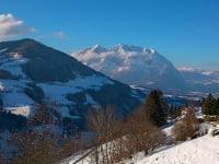 Winterlandschaft mit Blick auf den Grimming