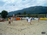Beach-Volleyball am See