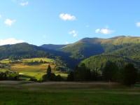 Auf dem Weg zur Kuhweide - die Dorferalm liegt friedlich in der Abendsonne