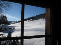 Dorferhütte: Blick aus dem Fenster