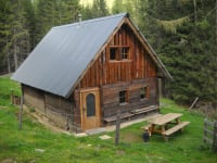 Große Hütte von hinten