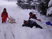 Freude über den ersten Schnee