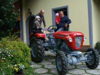 Oldtimer-Traktor - hoch im Kurs bei unseren Gästen