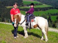 Ein Ausritt auf unserem Pony