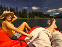 Tretbootfahren am Teichalmsee