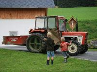 Traktorfahrt mit dem Bauer