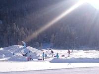 Schneespielplatz in Niederthai