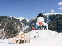 Schneemann in Niederthai