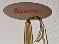 Türschild Alpenrose