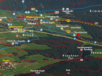 Wanderkarte über das Mieminger Plateau