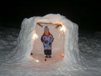 schneehöhle bauen