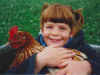 Katharina und Huhn