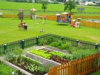 Hausgarten mit Spielplatz am Feriengut Oberhabach