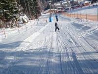 Skifahren am Übungslift in Kramsach