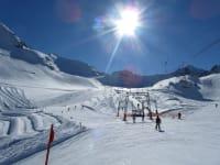 Keine Wartezeiten, das lieben die Sportler am Kaunertaler Gletscher!