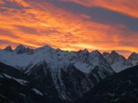 Morgenrot über dem Kaunergrat