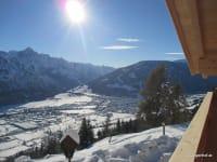 Blick ins Tal vom Balkon Dolomitenblick und Talblick