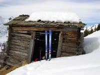 Rast bei Skitour