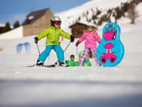 Direkt unter der Hütte können Ihre Kinder sich im Bobo Kinderland austoben Foto Martin Lugger