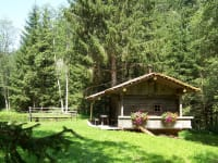 Hütte beim Fischteich