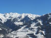 Aussicht auf Matrei und das Skigebiet