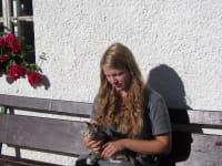 Johanna mit Katze