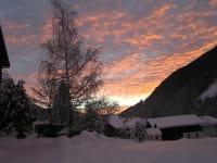 Abendrot im Winter