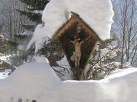 Unser verschneites Marterl